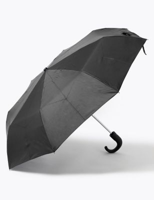 Recycled Polyester Crook Handle Umbrella with Windtech™