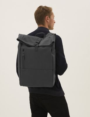 Rubberised Rolltop Backpack