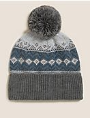 Fair Isle Beanie Hat with Thermowarmth™