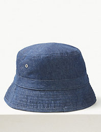 a60a6640 Pure Cotton Bucket Hat with Stormwear™ | M&S Collection | M&S
