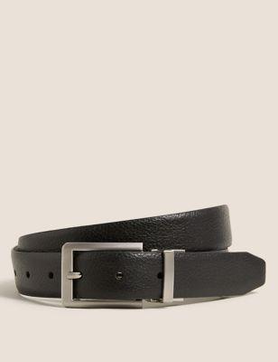 Leather Reversible Textured Belt