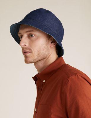 Denim Reversible Bucket Hat