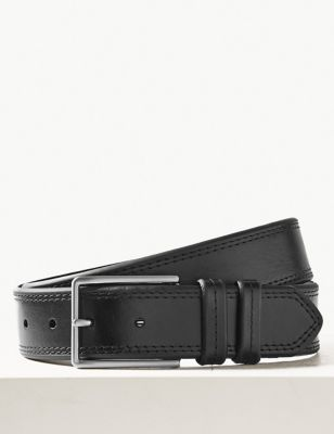 Leather Stitch Detail Belt