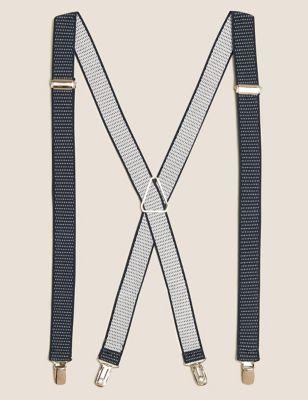 Slim Adjustable Polka Dot Braces