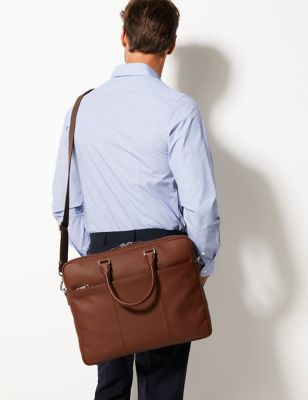Leather Messenger Bag   M&S Collection   M&S