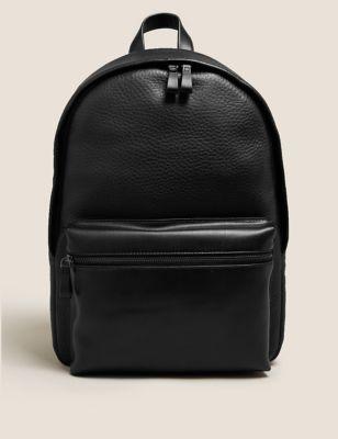 Leather Pebble Grain Backpack