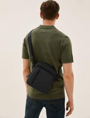 Rubberised Cross Body Bag