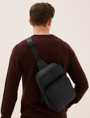 Rubberised Single Strap Bag