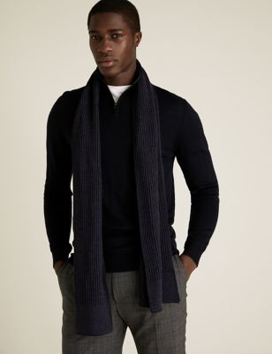 Knitted Textured Scarf
