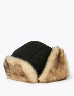 Faux Fur Trapper Hat with Thermowarmth™