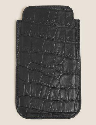 Mock Croc Leather iPhone 12 Case