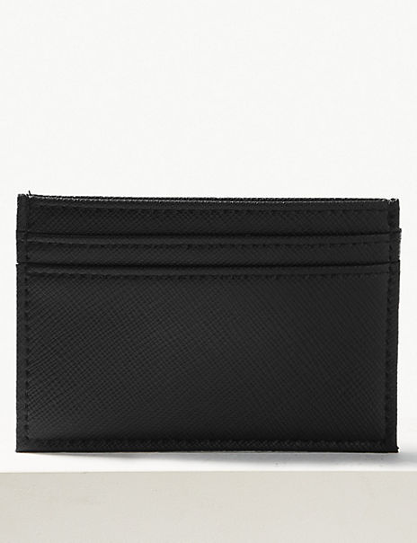 Faux Leather Card Holder with Cardsafe™