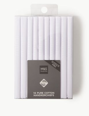 10 Pack Antibacterial Pure Cotton Handkerchiefs with Sanitized Finish®