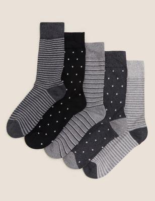 5 Pack Cool & Fresh™ Cushioned Socks