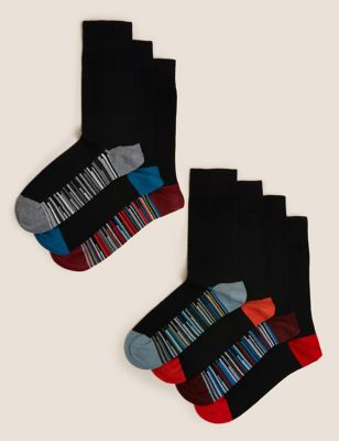 7pk Cool & Fresh™ Striped Sole Socks
