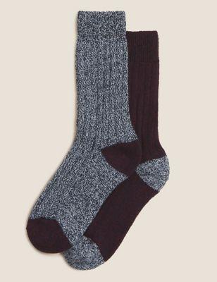 2pk Wool Everyday Socks