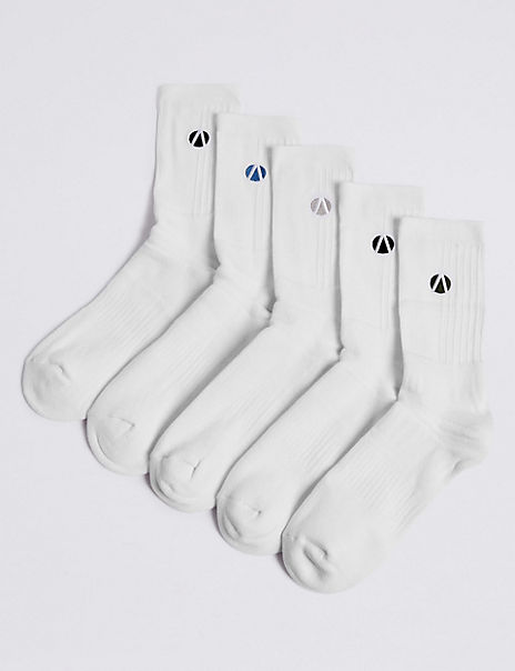 5 Pack Cotton Rich Sports Socks