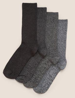 4pk Casual Ribbed Socks