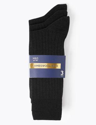 3pk Lambswool Smart Socks
