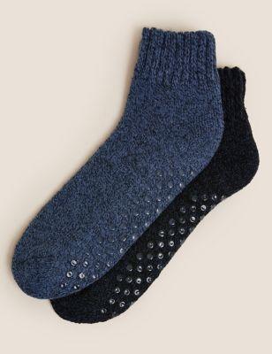 2pk Chunky Slipper Socks