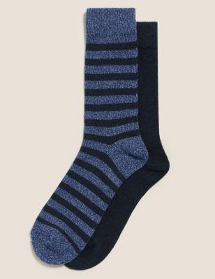 2pk Assorted Slipper Socks