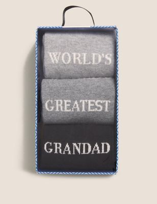 3pk Greatest Grandad Sock Gift Box