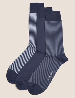 3 Pack Modal Pima Cotton Socks