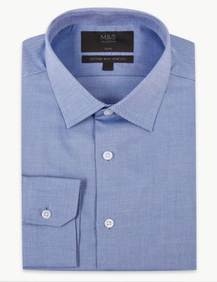 Slim Fit Cotton Shirt with Stretch