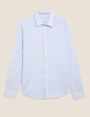 Regular Fit Pure Cotton Striped Shirt