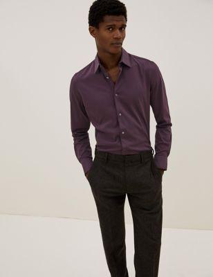 Slim Fit Jersey Cotton Shirt