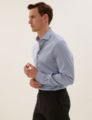 Tailored Fit Striped Stretch Shirt