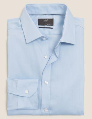 Slim Fit Non-Iron Cotton Twill Shirt