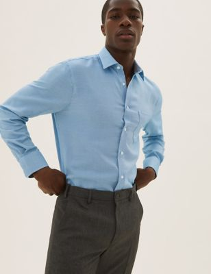 Regular Fit Textured Non-Iron Shirt