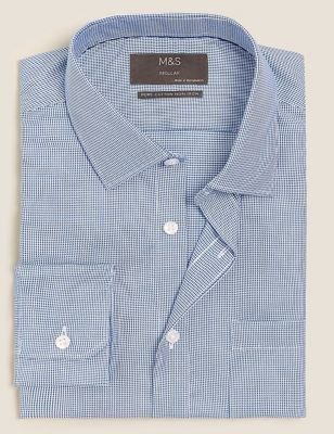 Regular Fit Non Iron Pure Cotton Shirt
