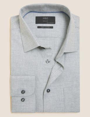 Regular Fit Brushed Cotton Shirt