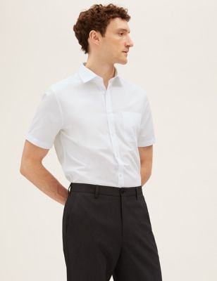 3 Pack Tailored Fit Short Sleeve Shirts