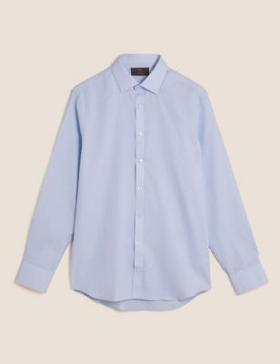 Tailored Fit Easy Iron Textured Shirt