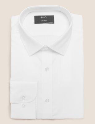 Regular Fit Easy Iron Textured Shirt