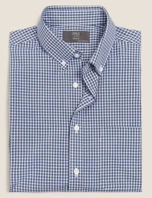 Regular Fit Easy Iron Cotton Check Shirt