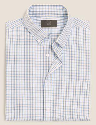 Regular Fit Easy Iron Check Shirt