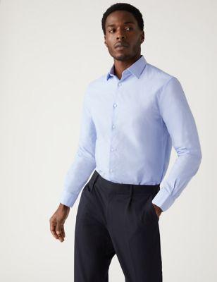 Regular Fit Pure Cotton Textured Shirt