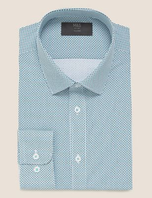 Tailored Fit Easy Iron Cotton Shirt