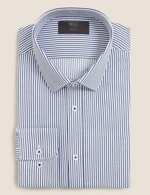 Regular Fit Easy Iron Striped Shirt