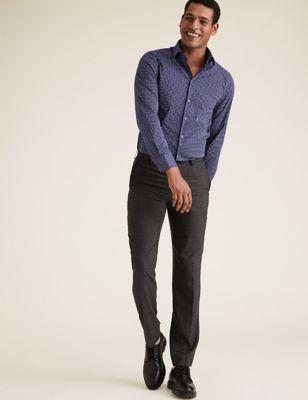 Slim Fit Easy Iron Cotton Stretch Shirt