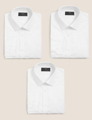 3 Pack Slim Fit Long Sleeve Shirts