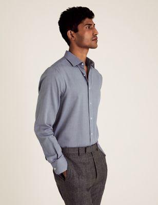 3pk Slim Fit Cotton Long Sleeve Shirt