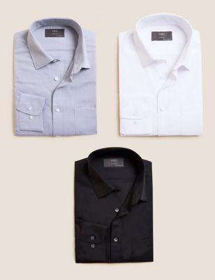 3 Pack Regular Fit Long Sleeve Shirt