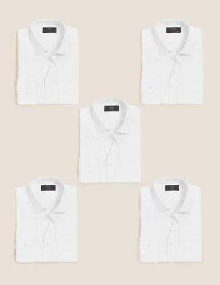 5 Pack Tailored Fit Long Sleeve Shirts