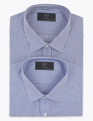 2 Pack Regular Fit Striped Long Sleeve Shirts