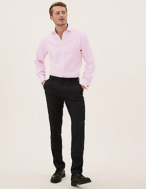Pure Cotton Easy to Iron Tailored Fit Shirt, PINK SORBET, catlanding
